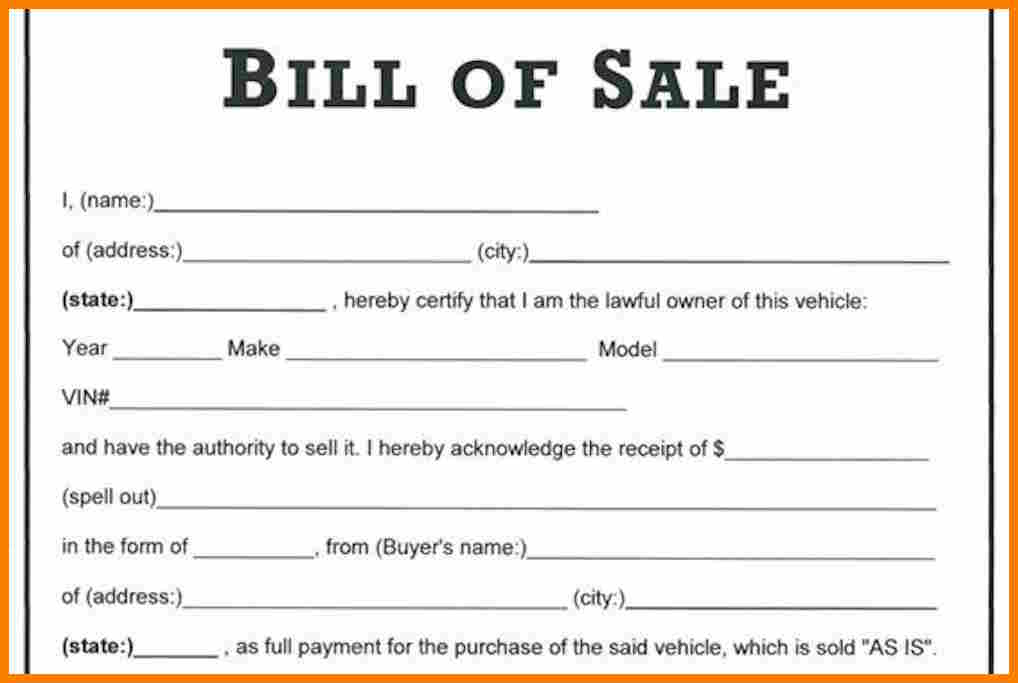 The Necessity Of Using A Bill Of Sale Document Discuto